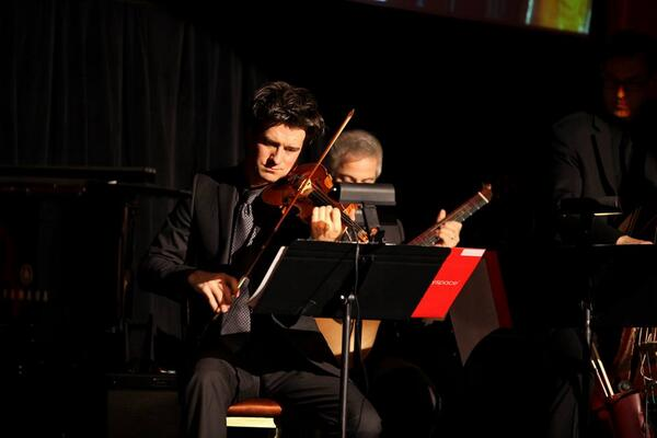 Performing at Fiddler at 50 Gala as the solo violinist and Fiddler.. Capitale, New York, NY.   Photo by SymphonySpace