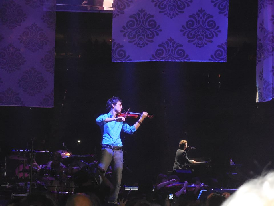 November 2, 2013 Performing with Josh Groban at the Consol Energy Center Pittsburgh, PA. In The Round Tour Photo courtesy of Lighann Laur