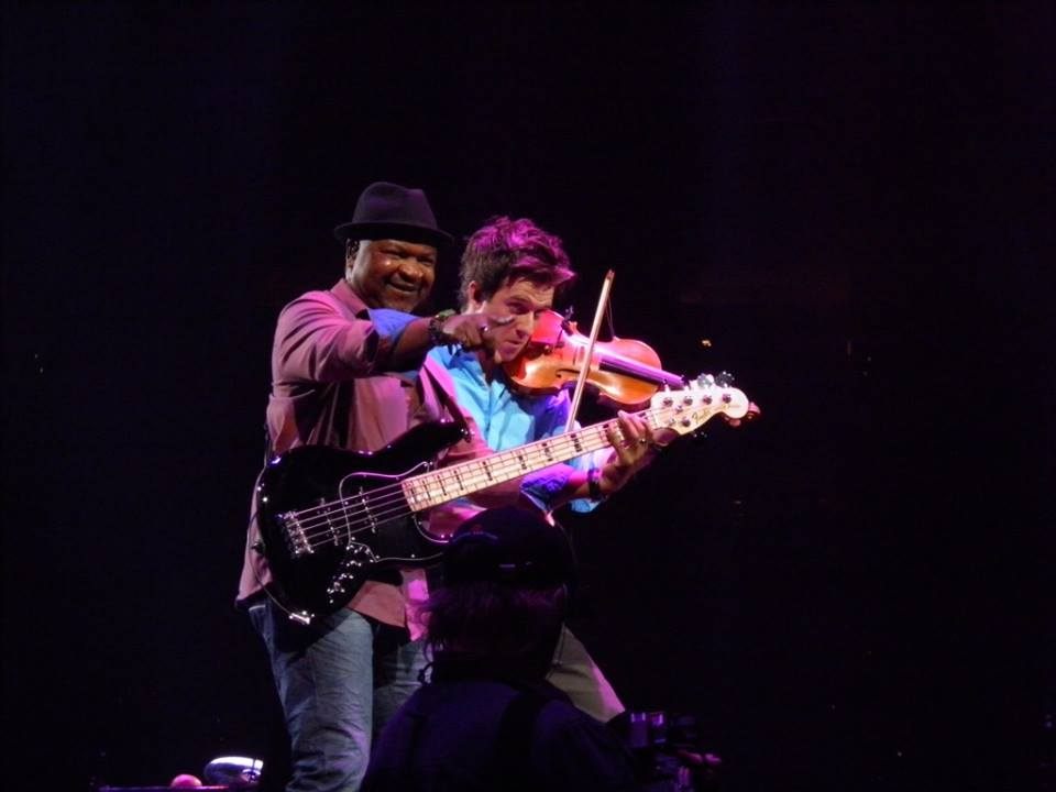 November 3, 2013 Performing with Andre Manga (bass) at Wells Fargo Center, Philadelphia, P. In The Round Tour Photo courtesy of Joanne McDonough.