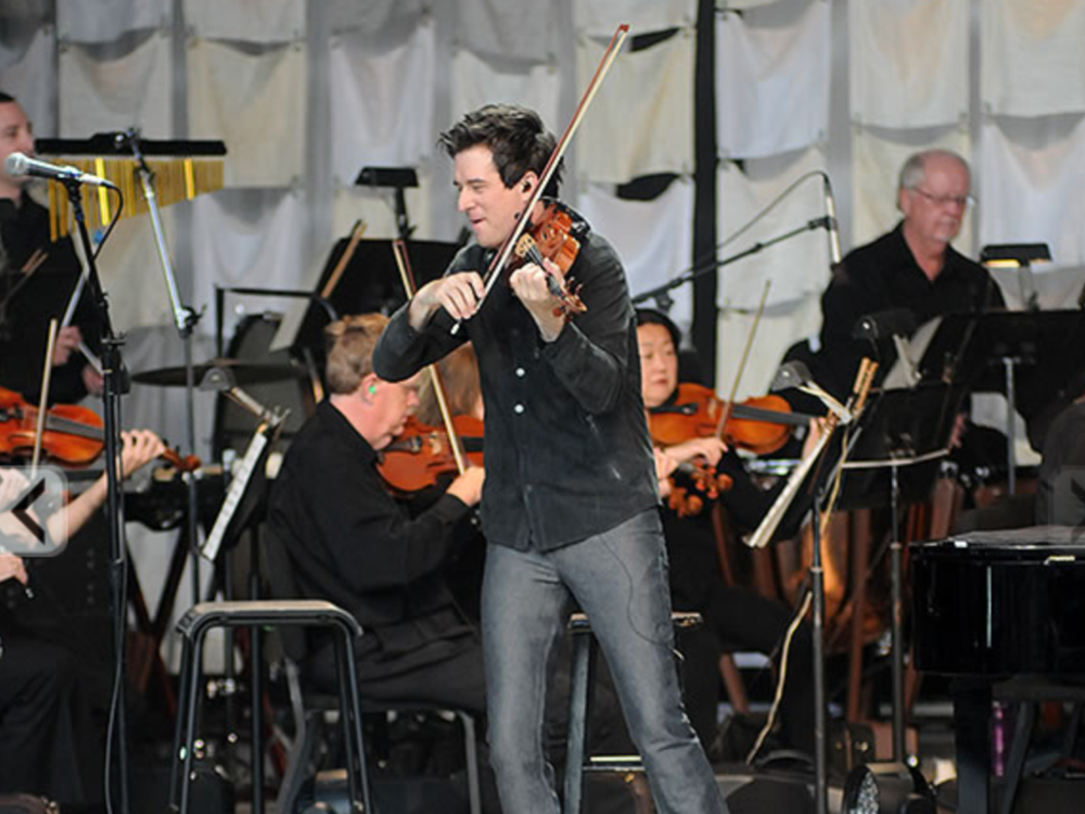 August 13, 2013 Performing with the Dayton Symphony Orchestra at Fraze Pavilion, Kettering, OH  Photo from the Fraze Pavilion Website