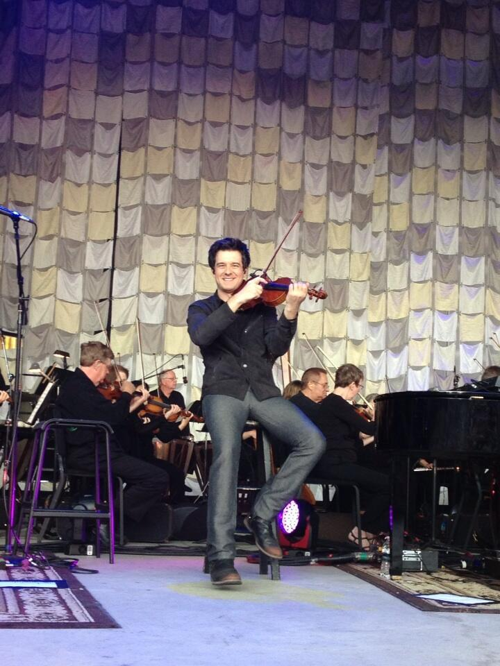 August 13, 2013 Performing at Fraze Pavilion with the Dayton Symphony Orchestra, Kettering, OH  Photo courtesy of Teresa