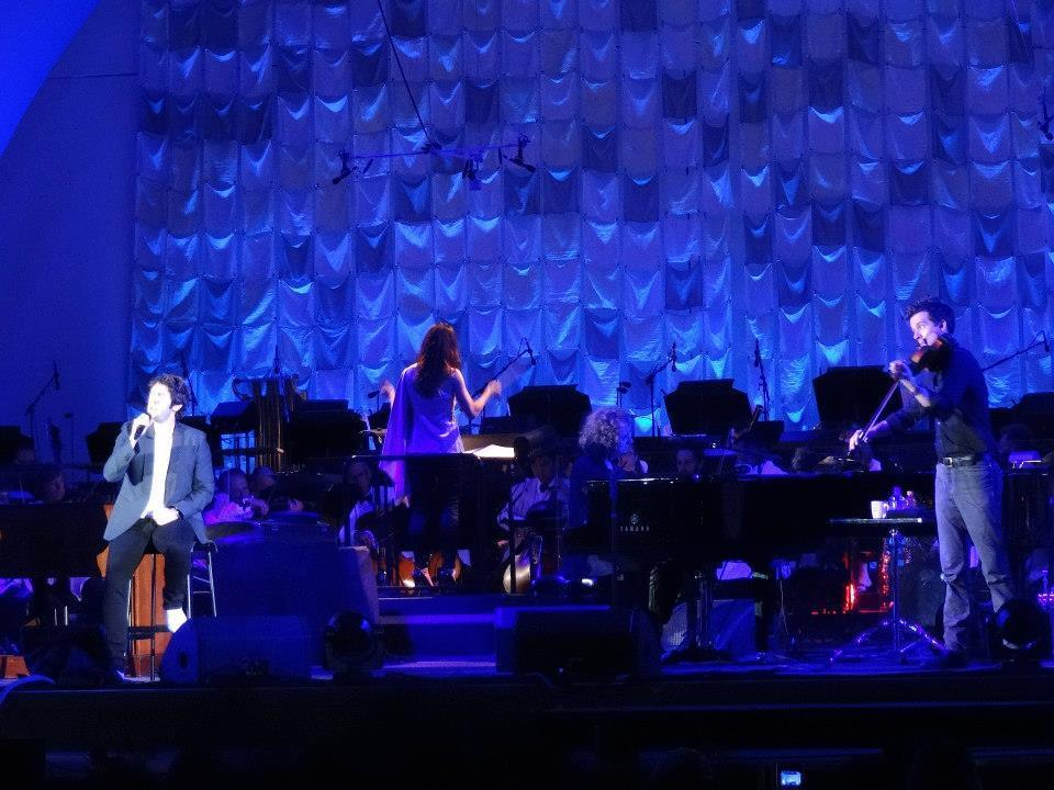 July 4, 2013 Performing with Josh Groban and LAPhilharmonic Orchestra conducted by Sara Hicks. Hollywood Bowl, Los Angeles, CA   Photo courtesy of Halimejani