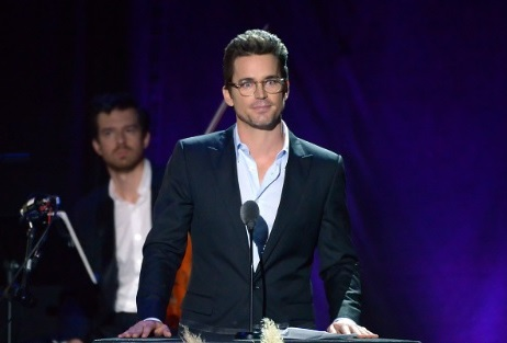 Actor Matt Bomer at the 95th MPTF Anniversary. Christian Hebel in the background. Photo by Getty Images