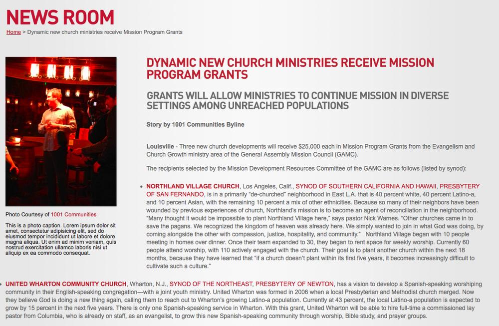 1001 New Worshiping Communities