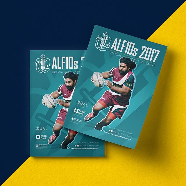 Brochure for this year's ALF 10s tournament #ALF10s2017 #design #brochure #rugby