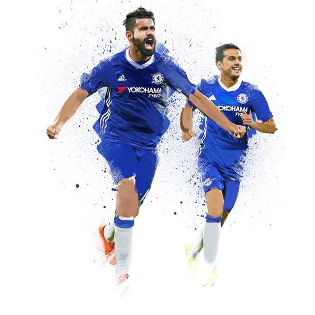 It all started with #diegocosta scoring the winner for #chelseafc against #westham #illustration #design
