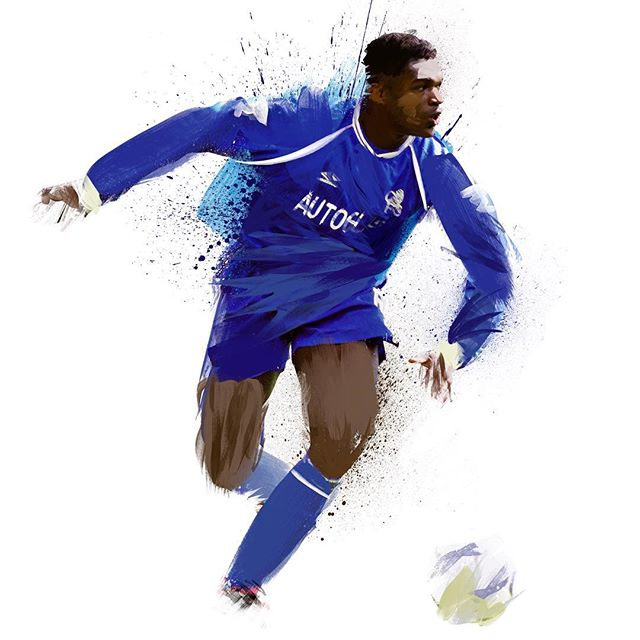 Before #johnterry there was Marcel 'The Rock' Desailly #chelseafc #desailly #illustration #design