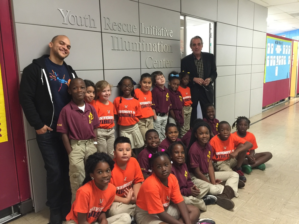Students from the Success Preparatory Academy at the Illumination Center, located on Bienville Street in New Orleans, Louisiana.