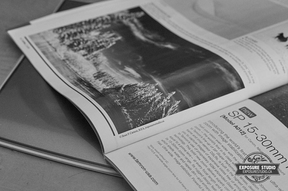 """Winter Wonderland"" as printed photograph in Shutterbug Magazine."