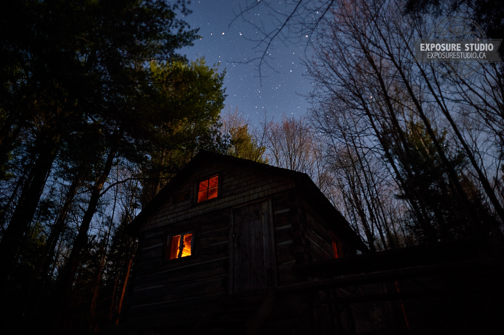 """A Sky Full of Stars"" over Lost Coin Lake Ranger Cabin."
