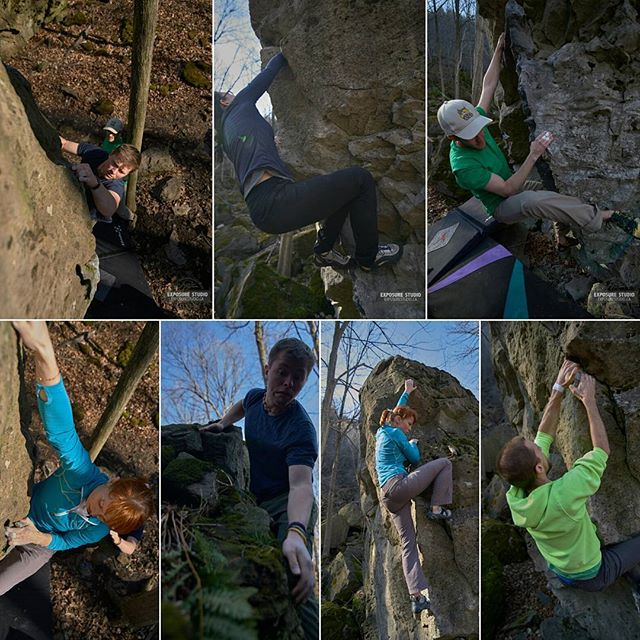 A few of the photographs from the #niagaraglen #bouldering #trip.  Working hard to #advance and #enhance a new #skillset; #climbing #photography.