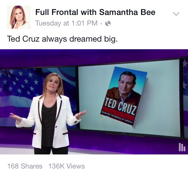 Non-captioned Facebook Video: Full Frontal with Samantha Bee
