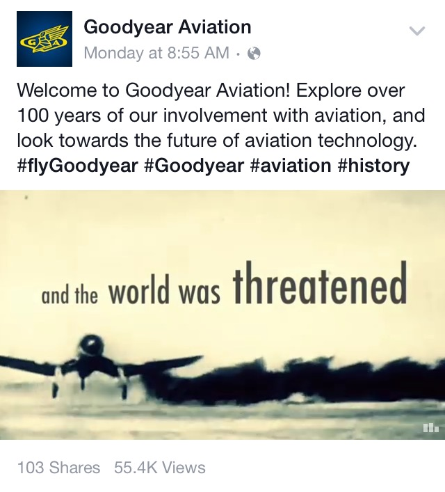 Captioned Facebook Video: Goodyear Aviation