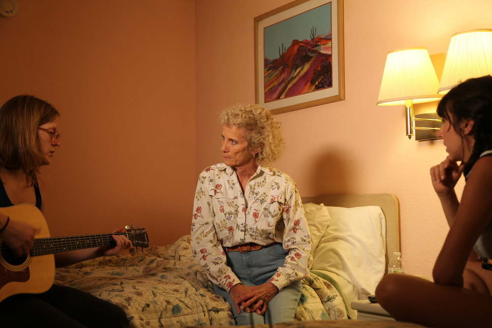 Blocking the scene with Dixie (Martha Winters) and Tennie (Nicole Lee Smith).