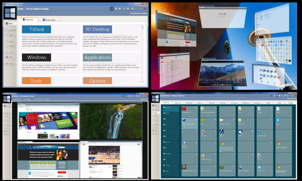 T3Desk - Lightweight 3D Desktop and Productivity Tools for Windows