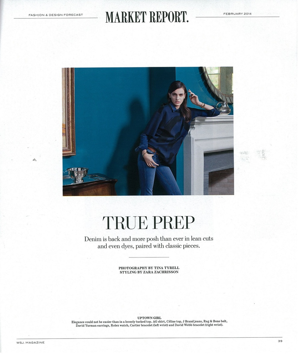 WSJ Magazine- The Finch Shirt in Relic