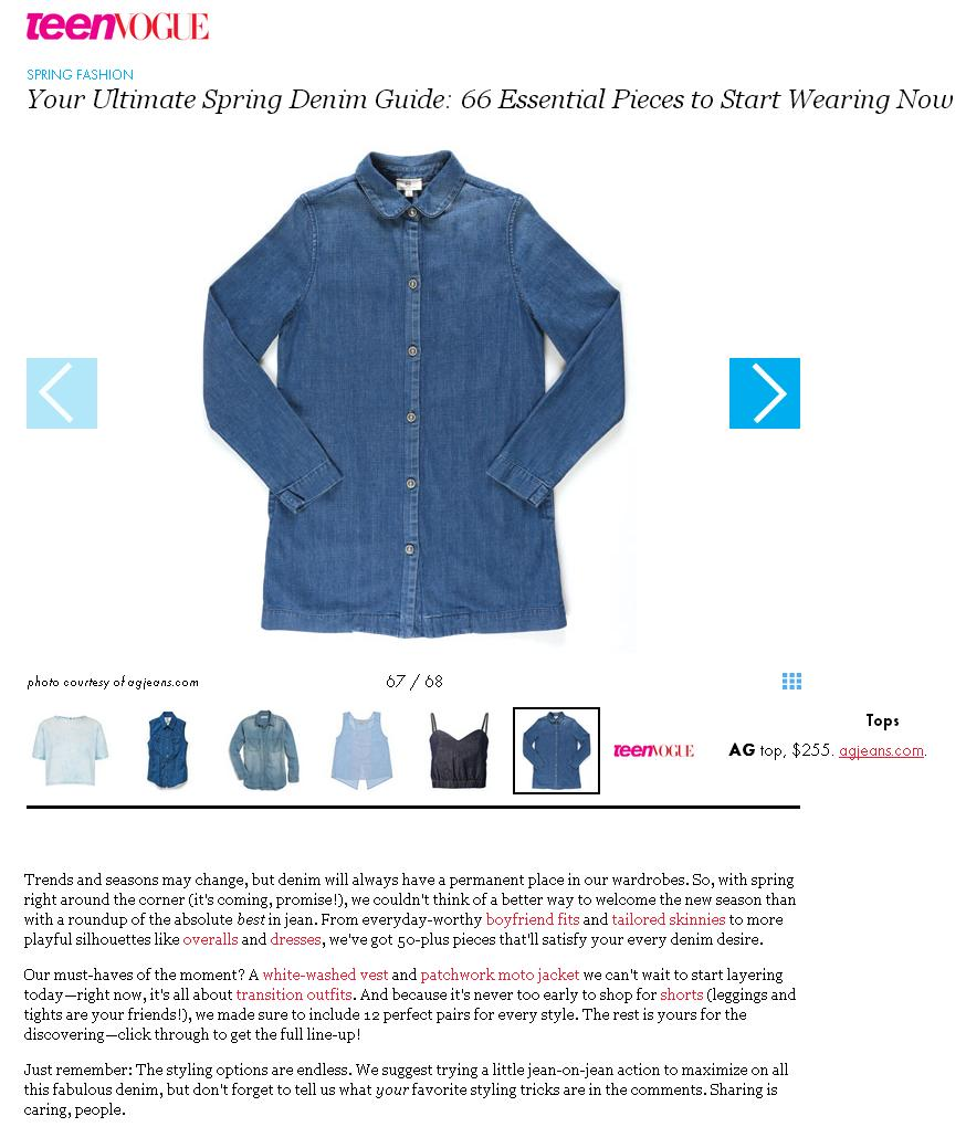 Teen Vogue- The Car Coat in Aurora Sky