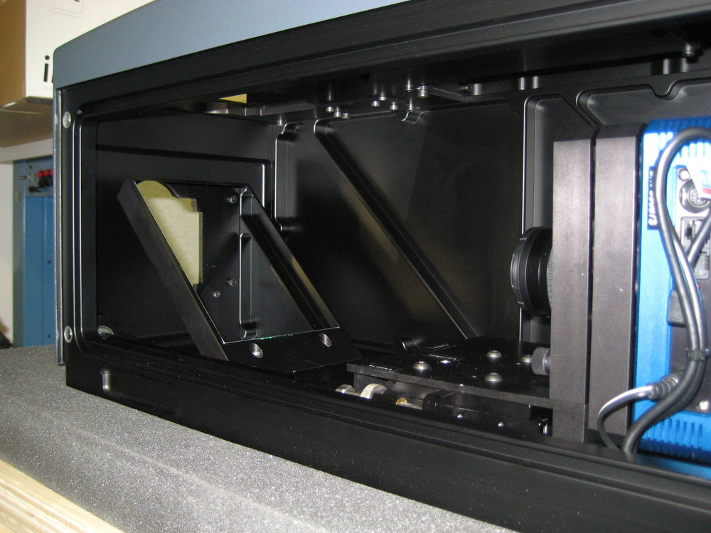 Inside view of SearchLight® Imager showing the fully machined internal optical frame