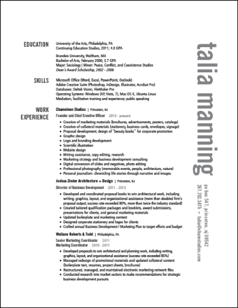 assistance with resumes and cover letters