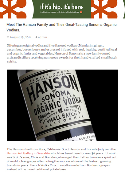 Hanson of Sonoma Blog If Its Hip Its Here