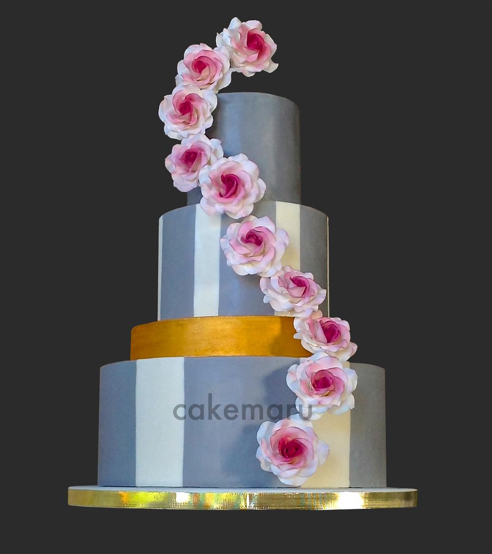 Gray Gold Roses Cake.jpg