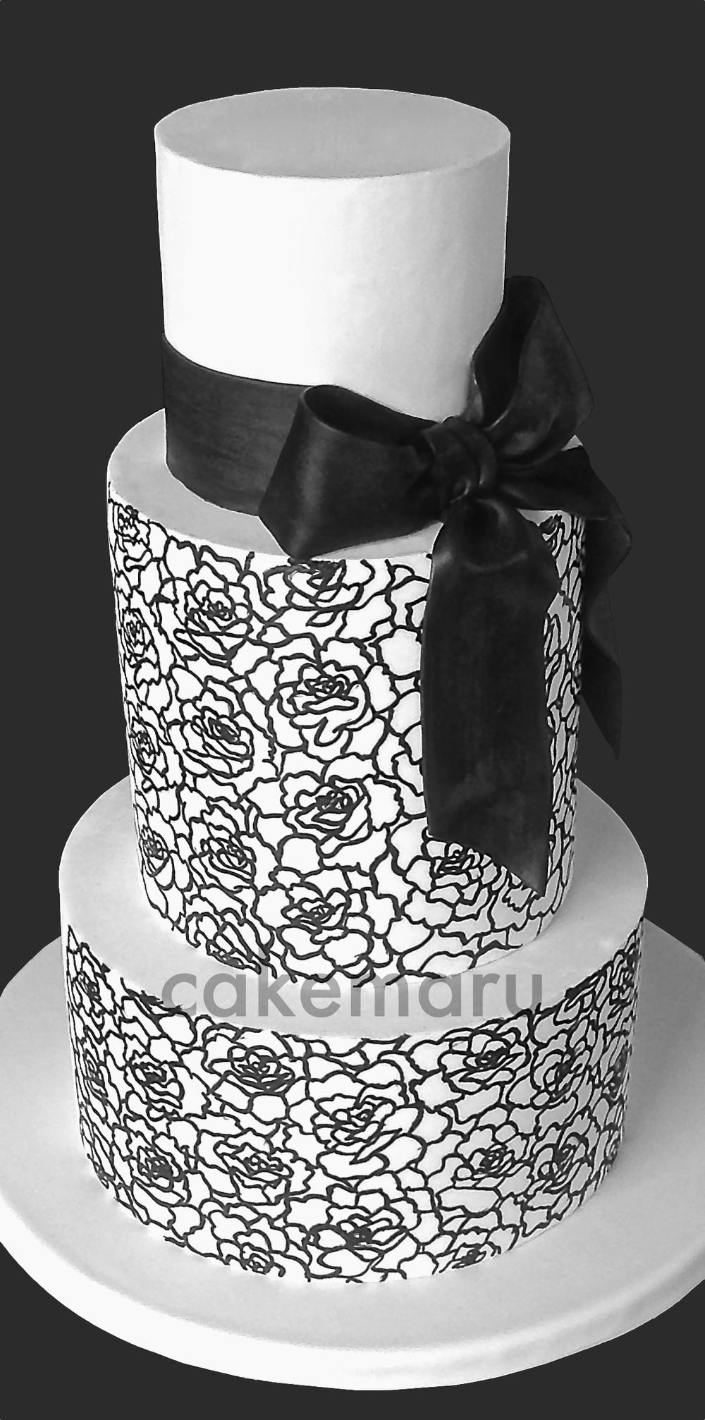 Hand Painted Roses Black Bow.jpg
