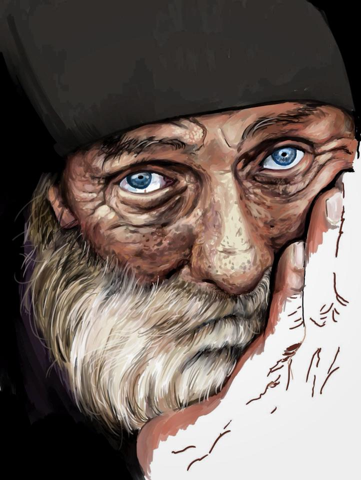 The Bearded Man (in progress)...  Digital Oil Paint