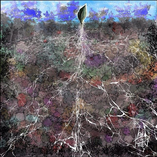 Earthly Roots:  Digital water color