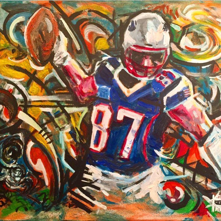 "No87, 16"" x 20"" Acrylic on Canvas"