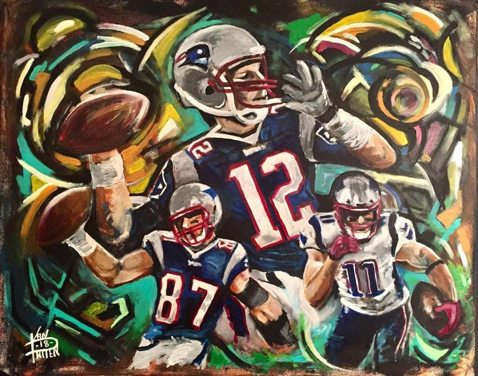 "Big 3, 30"" x 40"" Acrylic on Canvas"