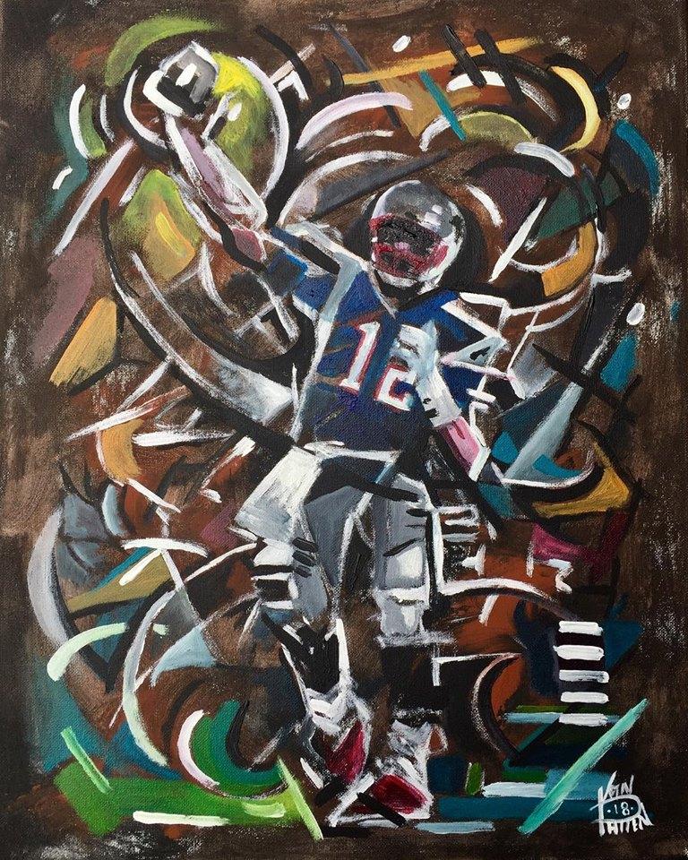 "No12, 16"" x 20"" Acrylic on Canvas"