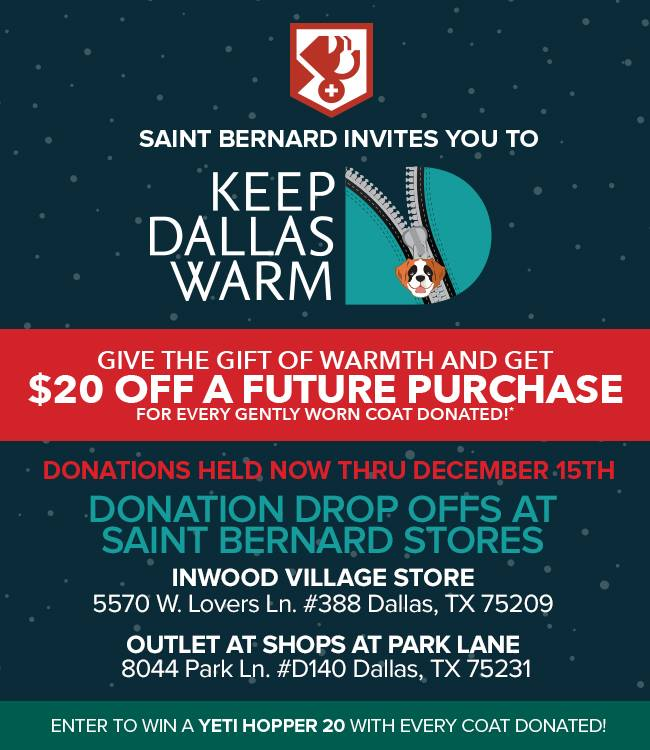 Thank you Saint Bernard Stores!