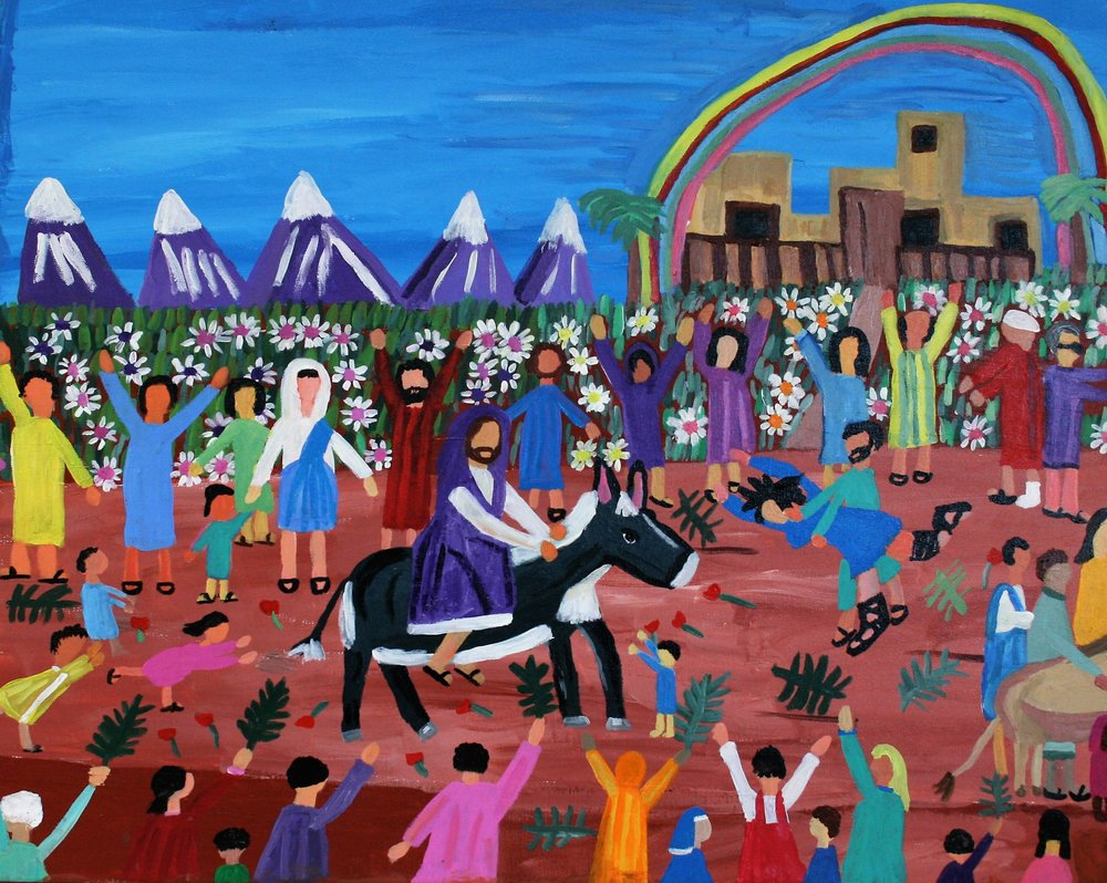 "Cornelious Brackens, Jr. ""Palm Sunday"", 24 x 30, $350"