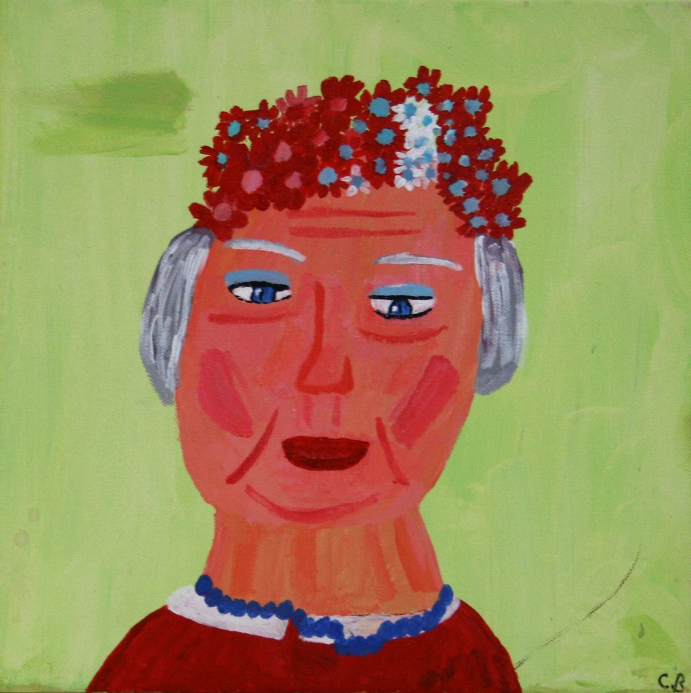 "Cornelious Brackens, Jr. ""The Beauty of Red"", 12 x 12, $75"