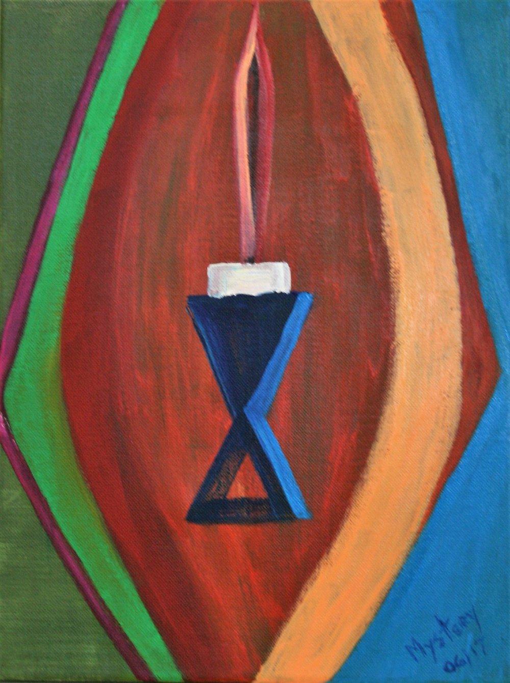 "Mystery, ""A 2017 Lava Lamp"" 12 x 16, $75"