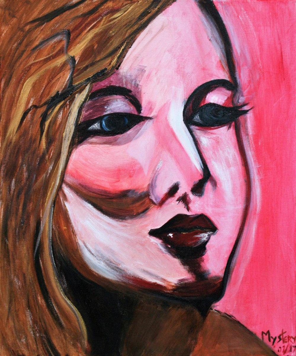 "Mystery, ""A Woman in Pink"", 20 x 24, $275"