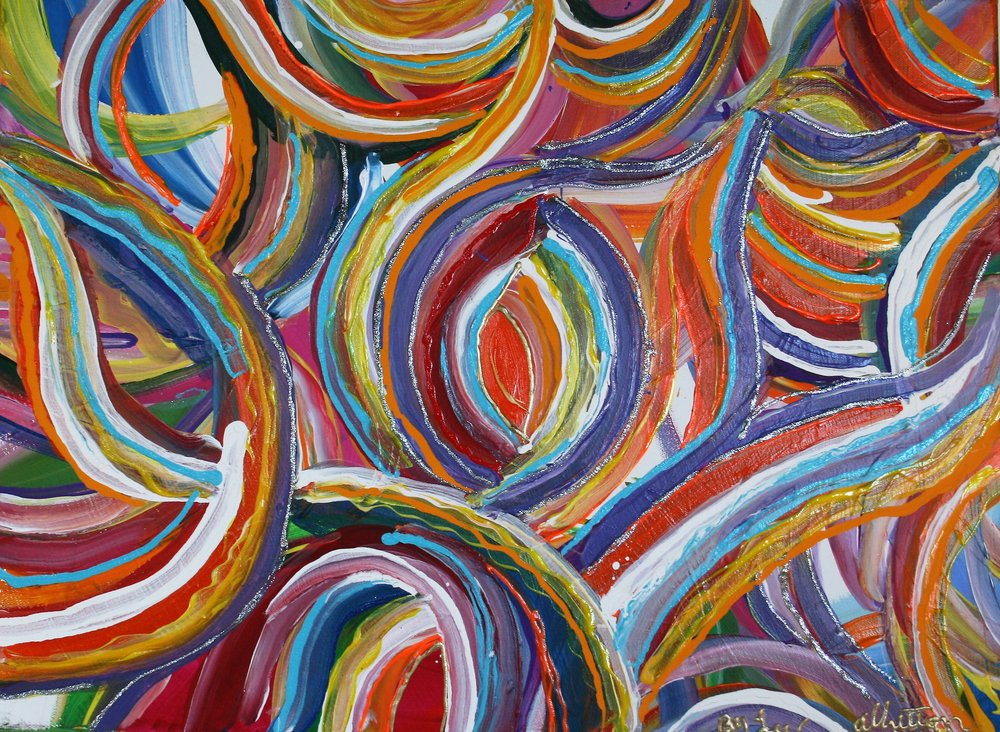 "Lee C. Albritton, ""Springtime Moves"" 18 x 24, $145"