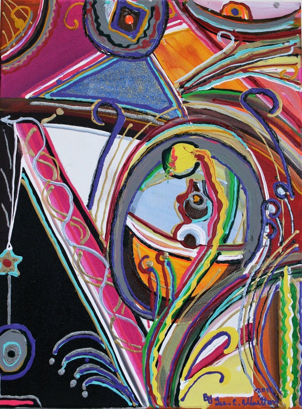 "Lee C. Albritton, ""Cosmic Egg"" 18 x 24, $150"