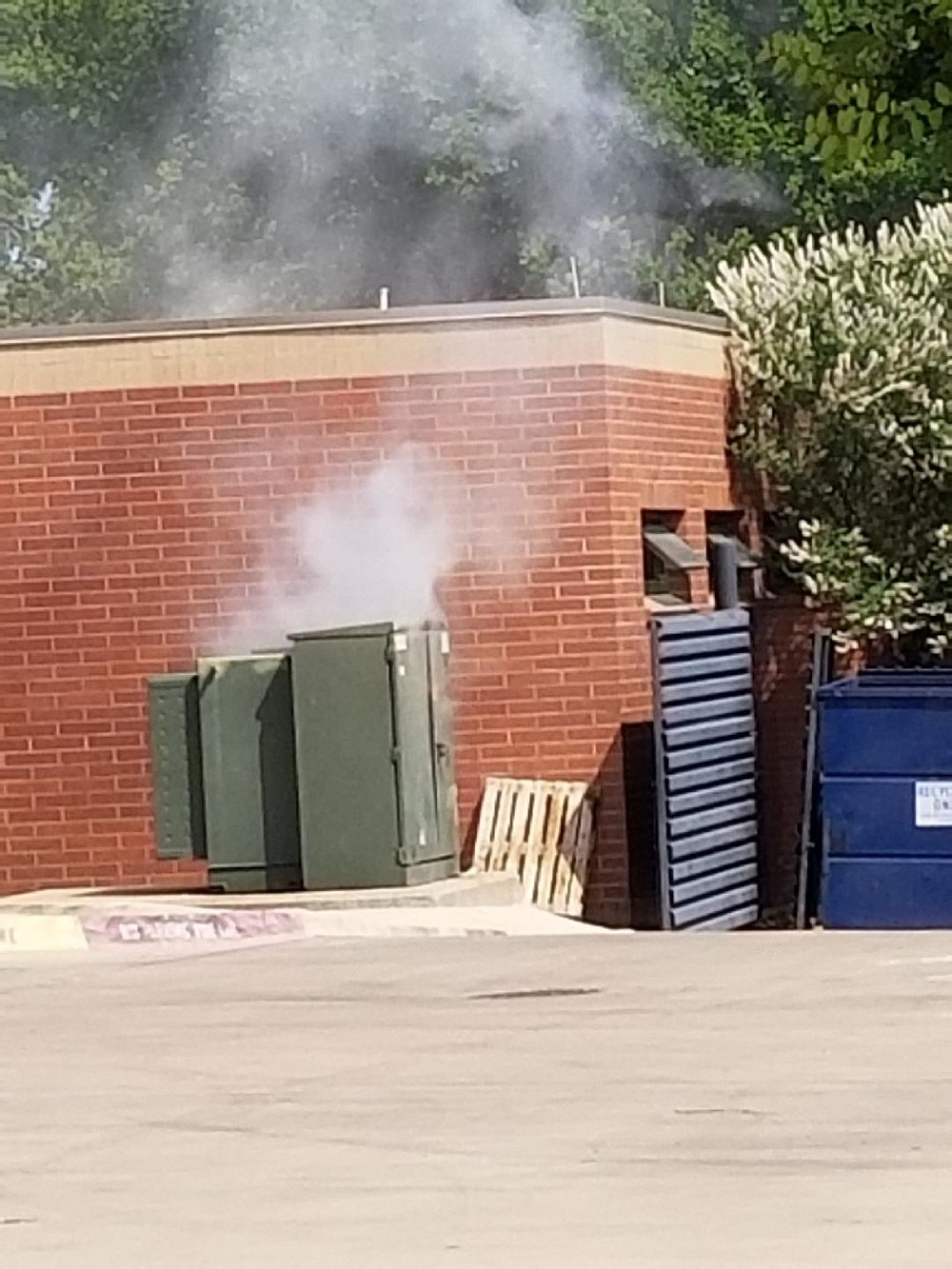 - Staff members at The Bridge noticed the smoking transformer in the parking lot off of Corsicana Street and were quick to alert Oncor and Dallas Fire-Rescue officials, but before help could arrive, the smoke turned to fire and eventually sparked an explosion.