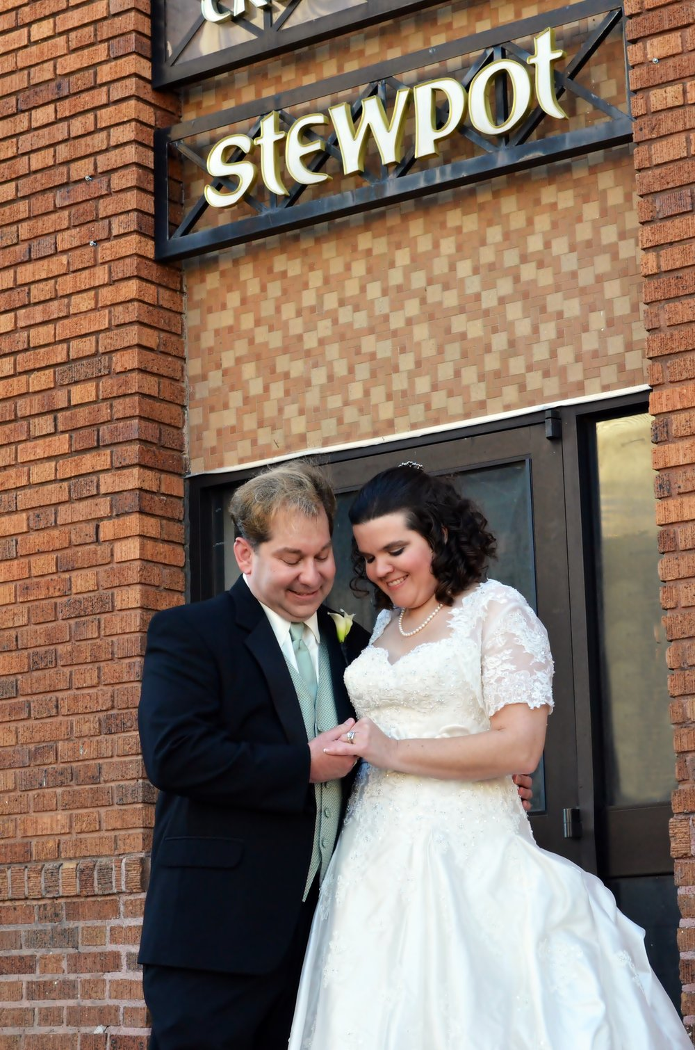 Scott & Suzanne on their wedding day