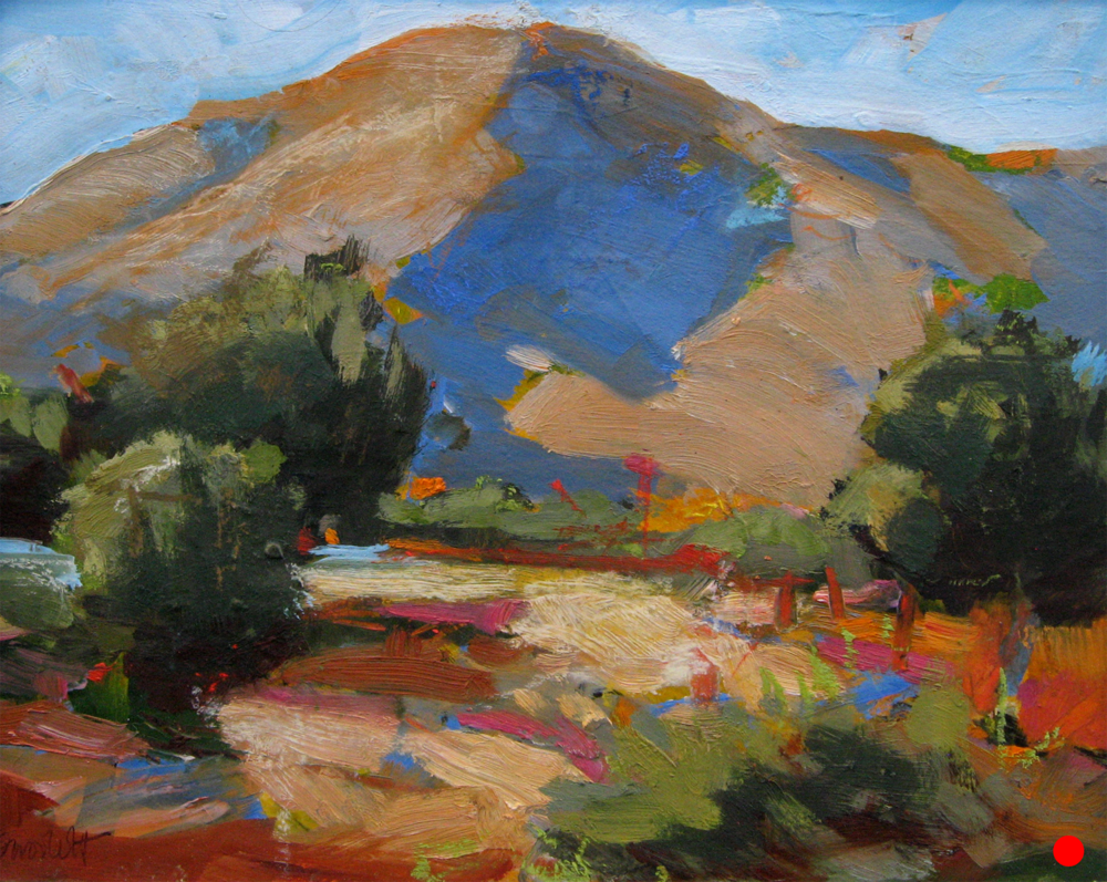 """Sam Woolcott  • Huachuca Canyon • oil on paper • 16 x 20"""" • $95 (includes tax + shipping)  SOLD!"""