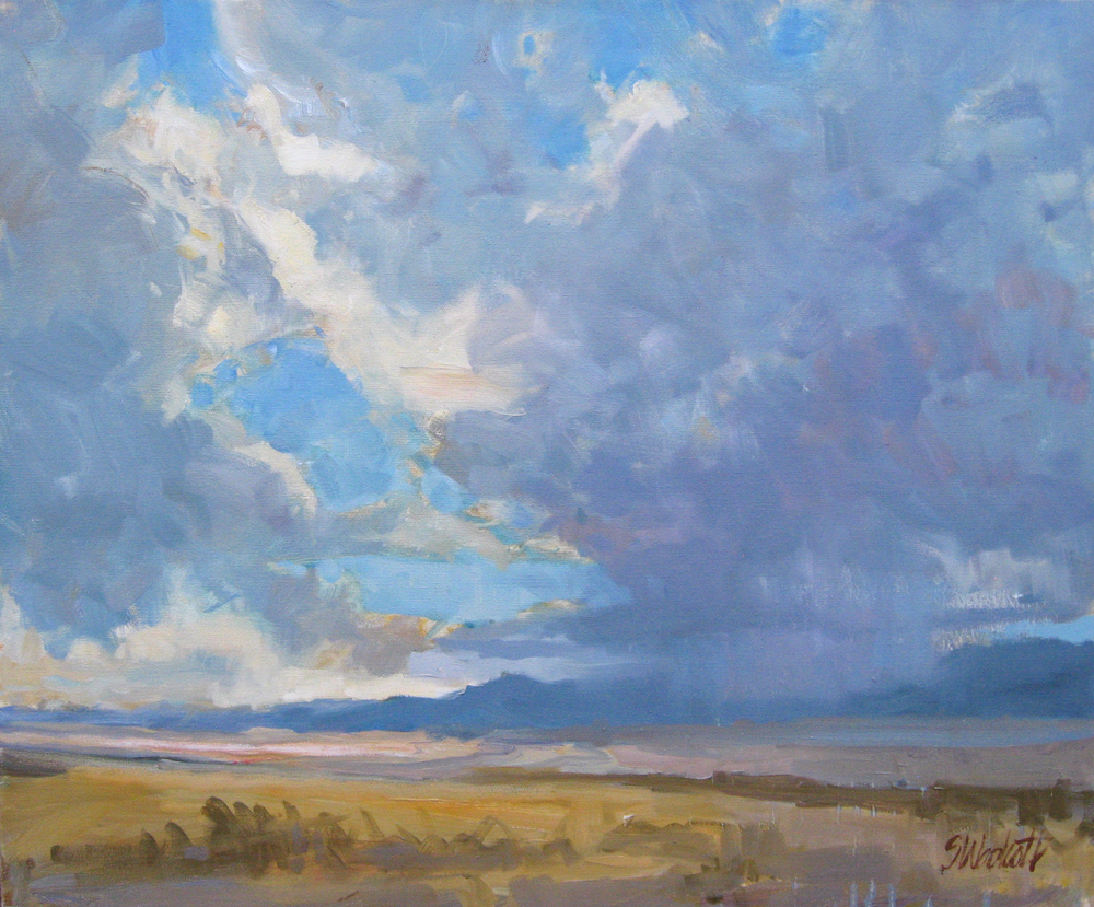 "In Coming Storm • oil on canvas • 20 x 24"" $1,000"