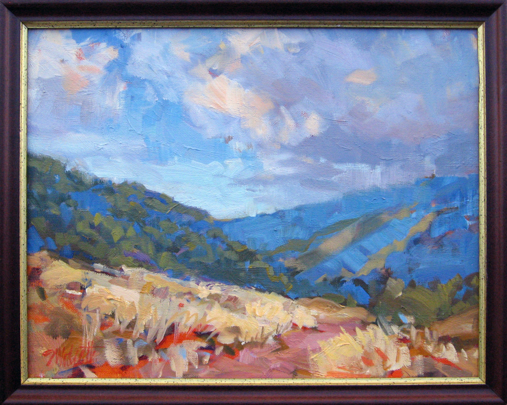 "Walk in Brown Canyon • oil on canvas • 10 x 20"" • $750"