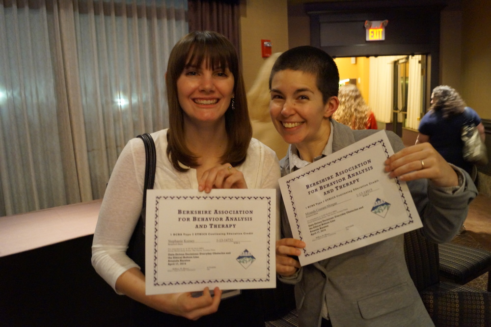 Stephanie and Miranda with their CE certificates