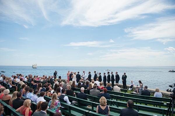 azaleaevents.com wedding ceremony on the water