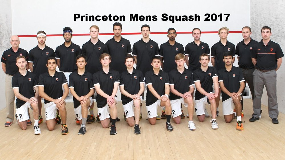 The 2017 Princeton University Mens squash Team @ The 2017 National Championchips at Harvard