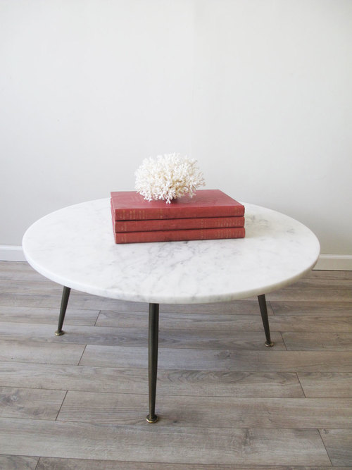 e55d21535270 Mid-Century Marble-Top Coffee Table — Van Roÿen Antiques   Objects