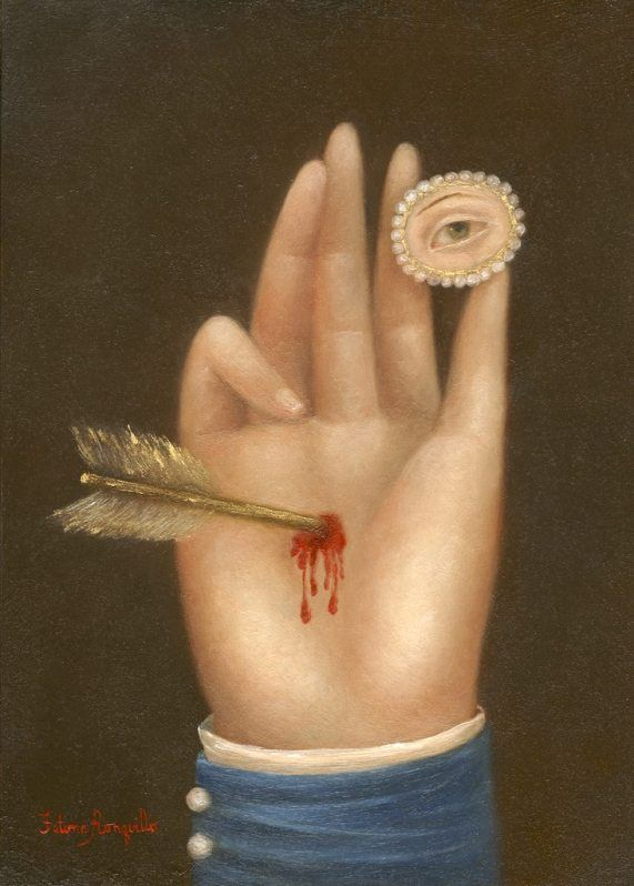 Lover's Eye Painting by  FATIMA RONQUILLO