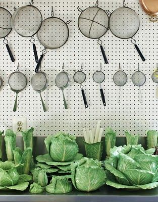 Dodie Thayer Lettuce Ware collection at C.Z. Guest's country home.