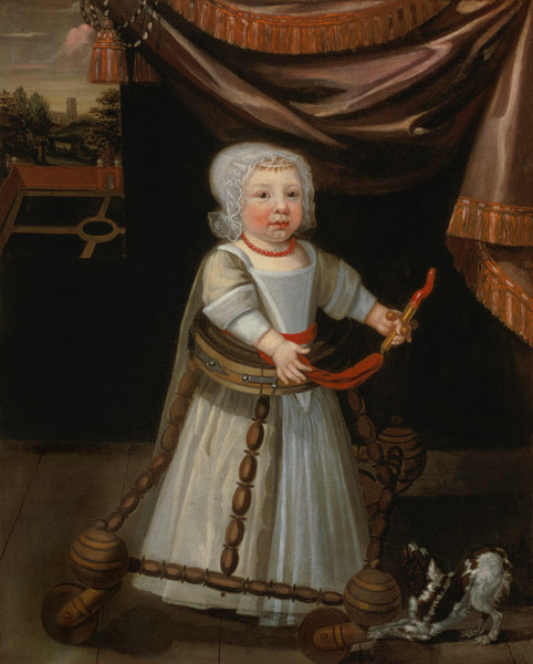 Portrait of a Boy with a Coral Rattle, 1650-1660.